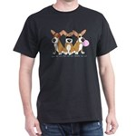 See No Evil Corgi Dark T-Shirt