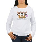 See No Evil Corgi Women's Long Sleeve T-Shirt