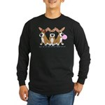 See No Evil Corgi Long Sleeve Dark T-Shirt