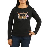 See No Evil Corgi Women's Long Sleeve Dark T-Shirt