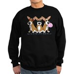 See No Evil Corgi Sweatshirt (dark)