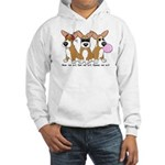 See No Evil Corgi Hooded Sweatshirt