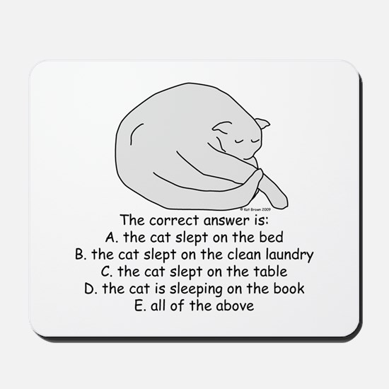 And the Answer is... Mousepad