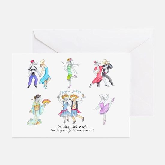 Dancing Bedlies Greeting Cards (Pk of 10)