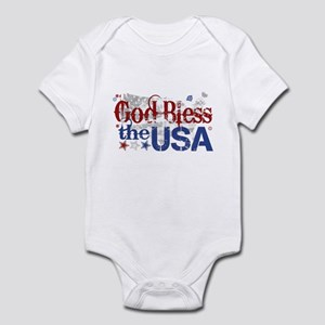 God Bless the USA Infant Bodysuit