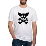 Pirate Corgi Skull Fitted T-Shirt