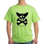Pirate Corgi Skull Green T-Shirt
