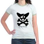 Pirate Corgi Skull Jr. Ringer T-Shirt