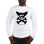 Pirate Corgi Skull Long Sleeve T-Shirt