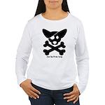 Pirate Corgi Skull Women's Long Sleeve T-Shirt