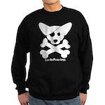 Pirate Corgi Skull Sweatshirt (dark)