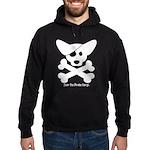 Pirate Corgi Skull Hoodie (dark)