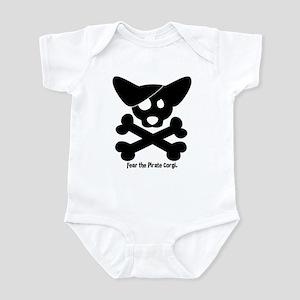 Pirate Corgi Skull Infant Bodysuit