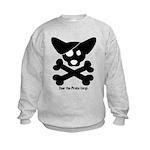 Pirate Corgi Skull Kids Sweatshirt