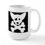 Pirate Corgi Skull Large Mug