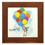 Balloon Bunch Corgi Framed Tile