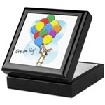 Balloon Bunch Corgi Keepsake Box