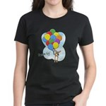 Balloon Bunch Corgi Women's Dark T-Shirt