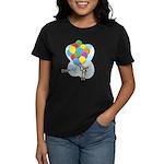 Balloon Bunch Corgi Women's Dark T-Shirt
