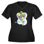 Balloon Bunch Corgi Women's Plus Size V-Neck Dark