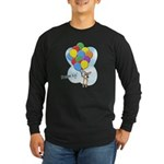 Balloon Bunch Corgi Long Sleeve Dark T-Shirt