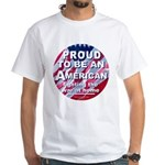 Proud American 2-Sided White T