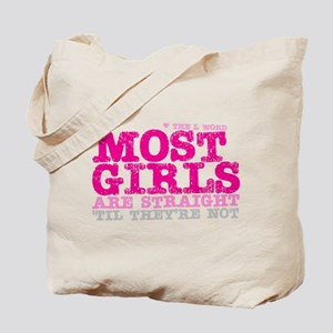 Pink L-Word Quote Tote Bag