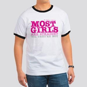 Pink L-Word Quote Ringer T