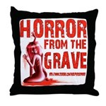 Horror from the Grave Throw Pillow