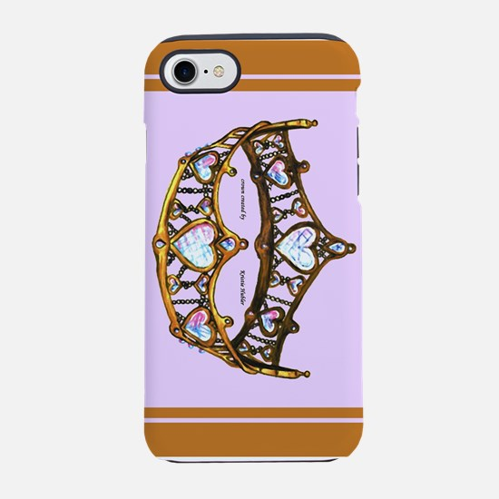 Queen of Hearts Gold Crown Tiara Pink Lilac iPhone