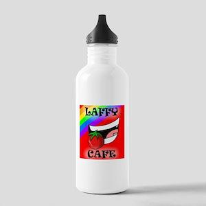 Laffy Cafe Logo Water Bottle