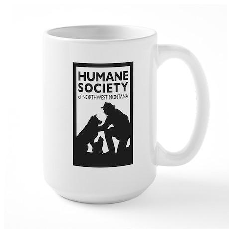 Large Mug with Humane Society of NW Montana Logo