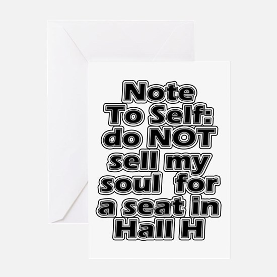 Hall H Note To Self Greeting Card