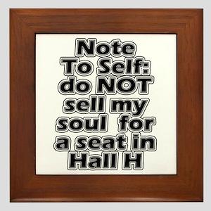 Hall H Note To Self Framed Tile