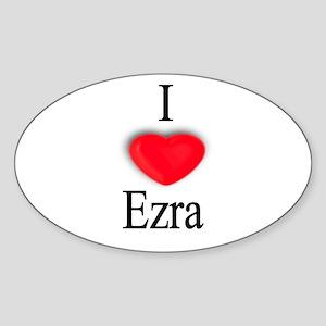 Ezra Oval Sticker