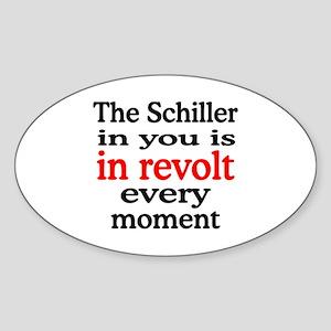 Schiller Revolt Oval Sticker