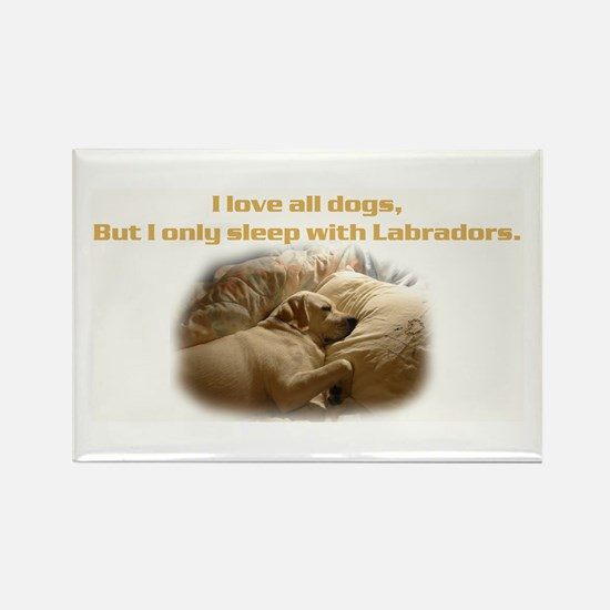Custom Photo Labrador Rectangle Magnet