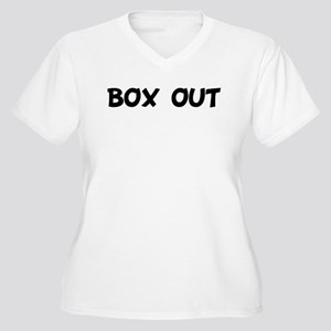 BOX OUT Women's Plus Size V-Neck T-Shirt