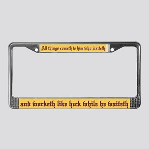 All things cometh License Plate Frame