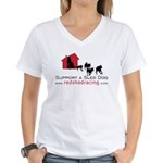 Red Shed Racing Women's V-Neck T-Shirt