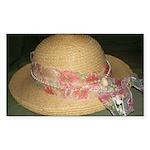 Elegantly Decorated Derby Hat stickers