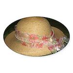 """""""Elegantly Decorated Derby Hat"""" Sticker"""