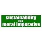 Sustainability is a Moral Imperative Sticker