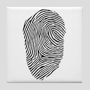 Fingerprint Tile Coaster