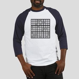 Sudoku - Brainteaser Baseball Jersey