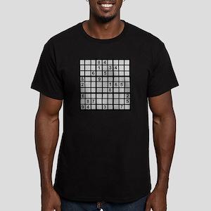 Sudoku - Brainteaser Men's Fitted T-Shirt (dark)