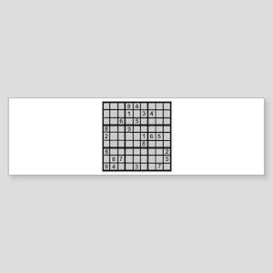 Sudoku - Brainteaser Bumper Sticker