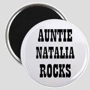 "AUNTIE NATALIA ROCKS 2.25"" Magnet (10 pack)"