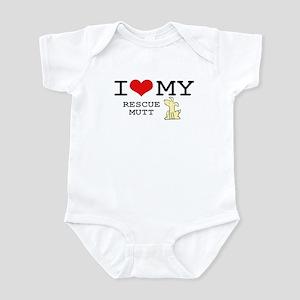 I Love My Rescue Mutt Infant Bodysuit