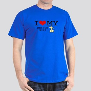 I Love My Rescue Mutt Dark T-Shirt